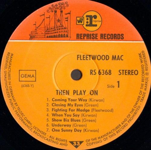 Виниловая пластинка FLEETWOOD MAC - THEN PLAY ON