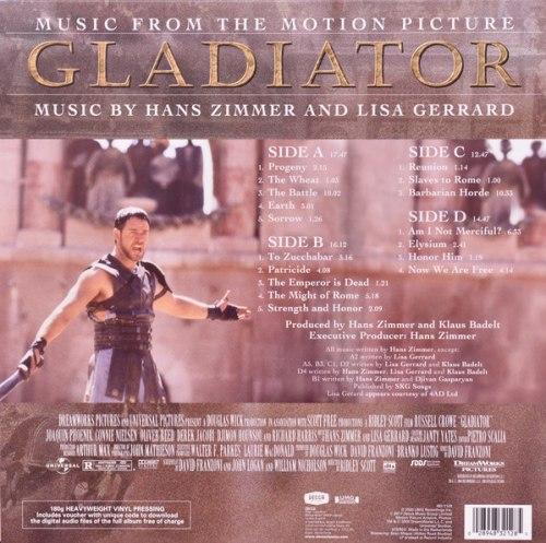Виниловая пластинка Саундтрек Gladiator (Hans Zimmer & Lisa Gerrard)