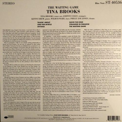 Виниловая пластинка Tina Brooks – The Waiting Game (Tone Poet)