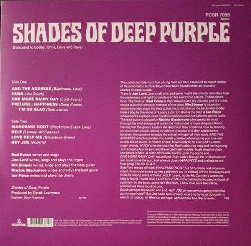 Виниловая пластинка DEEP PURPLE - SHADES OF DEEP PURPLE (180 GR)