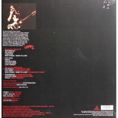 Виниловая пластинка MOTORHEAD - ON PAROLE (LIMITED, REMASTERED, 180 GR, 2 LP)