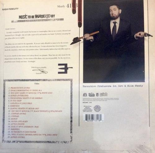 Виниловая пластинка EMINEM - MUSIC TO BE MURDERED BY (2 LP)