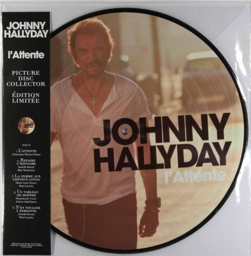 Виниловая пластинка JOHNNY HALLYDAY - L'ATTENTE (PICTURE DISC)
