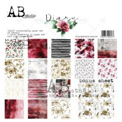"Набор двусторонней бумаги ""Diary"", 30,5*30,5см, ABstudio"