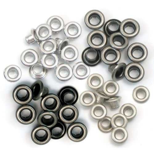 Люверсы, 60 шт. Cool Metal We R Memory Keepers EYELETS STANDARD