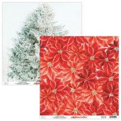 Набор бумаги Winter Land, 24 листа + 2 бонусных листа, 15 х 15 см., Mintay Papers