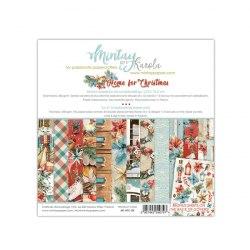 Набор бумаги Home for Christmas, 24 листа + 2 листа для вырезания, 15 х 15 см., Mintay Papers