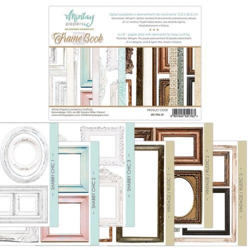 Набор для вырезания Frame Book, 6 листов, 15х20 см. Mintay Papers
