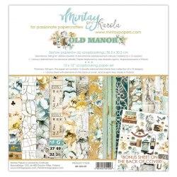 Набор бумаги Old Manor, 12 листов + 1 лист для вырезания, 30 х 30 см., Mintay Papers