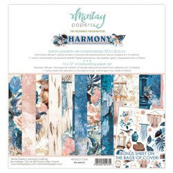 Набор бумаги Harmony, 12 листов + 1 лист для вырезания, 30 х 30 см., Mintay Papers