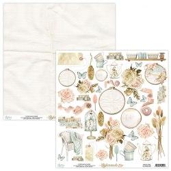 Набор бумаги Homemade, 12 листов + 1 лист для вырезания, 30 х 30 см., Mintay Papers