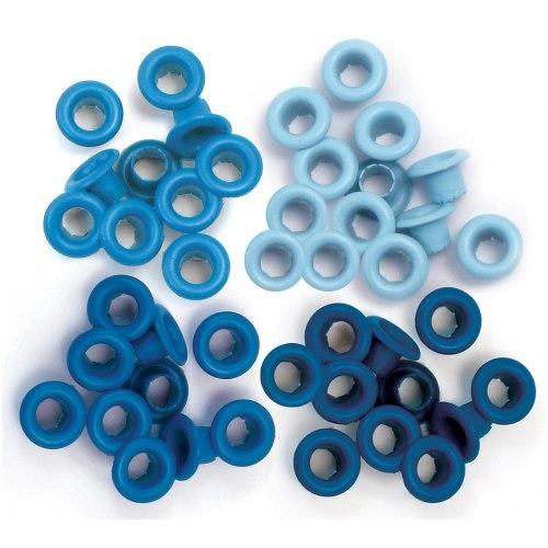 Люверсы, 60 шт. Blue We R Memory Keepers EYELETS STANDARD