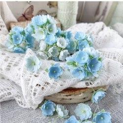 Малыши голубые 1 см, Pastel Flowers