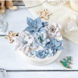 "Набор цветов ""Сказочная зима"" голубой, Pastel Flowers"