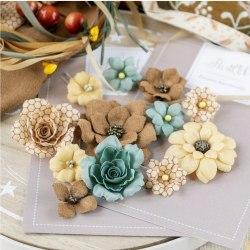 """Набор цветов """"Бархатная осень"""" бирюзовый, Pastel Flowers"""