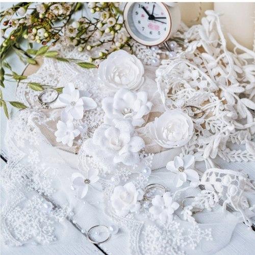 "Набор цветов ""DIAMOND"" белый, Pastel Flowers"