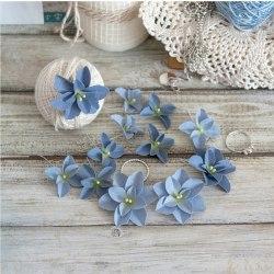 Гортензии Дуболистные, сине-голубые, Pastel Flowers