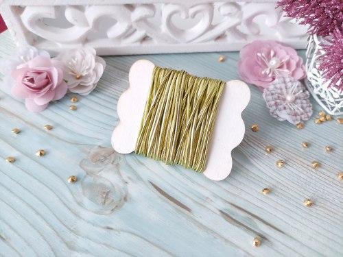 Резинка шляпная, цвет золото, 2 мм.