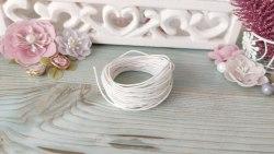 Шнур вощеный, цвет белый, 1.2 мм., хлопок