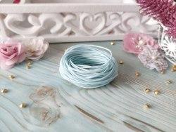 Шнур вощеный, цвет нежно-голубой, 1.2 мм., хлопок
