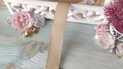 Лента репсовая, цвет бежевый, 25 мм.