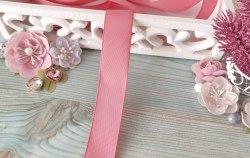 Лента репсовая, цвет темно-розовый, 25 мм.