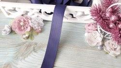 Лента репсовая, цвет благородный синий, 25 мм.