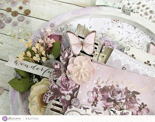 Набор карточек для журналинга, 15 штук, 3х4 Prima Marketing Ink Lavender