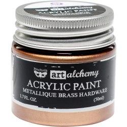 Краска акриловая Metallique Brass Hardware, Prima Marketing Ink Finnabair