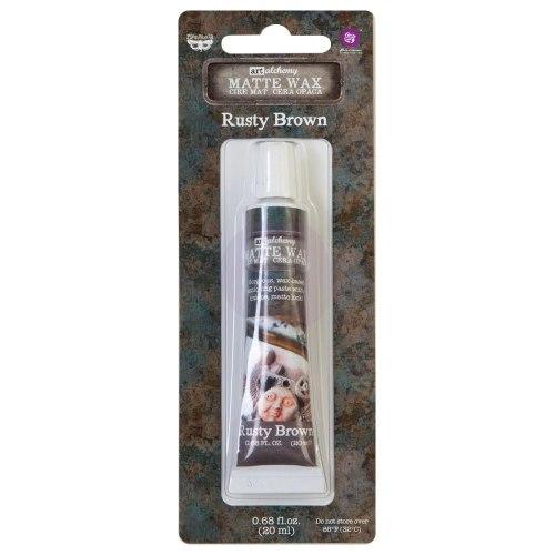 Воск Metallique Wax by Finnabair, Prima Marketing Ink цвет Rusty Brown