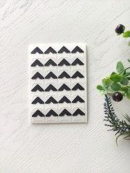 Уголки для фото самоклеящиеся, цвет черный + белый