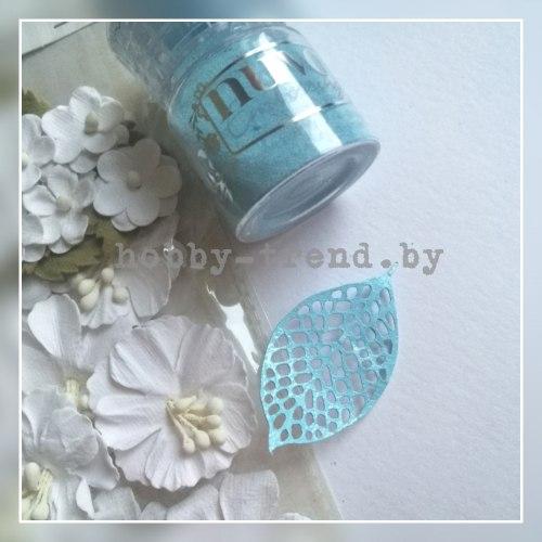 Пудра для эмбоссинга Serenity Blue (безмятежный голубой) Nuvo
