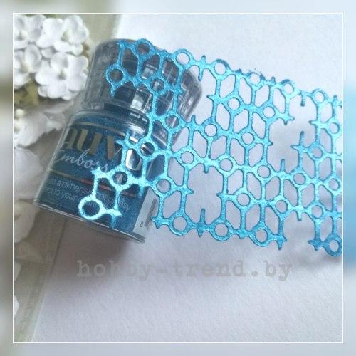 Пудра для эмбоссинга Odyssey Blue (синяя одиссея) Nuvo