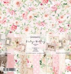 """Лист двусторонней бумаги """"Flowers Morning"""" 30,5*30,5см, 190гр. Summer Studio Vintage wedding"""