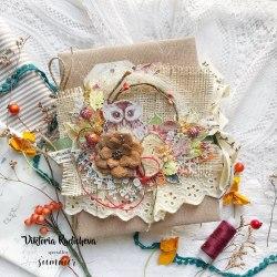 """Лист двусторонней бумаги """"Autumn garden"""" 30,5х30,5см, Summer Studio Warm autumn"""