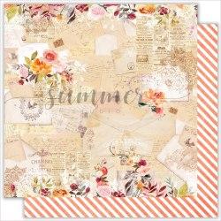 "Лист двусторонней бумаги ""Melody of soul"" 30,5х30,5см, Summer Studio Warm autumn"