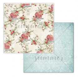 Набор двусторонней бумаги 11шт, 30,5*30,5см, 190гр Summer Studio Farmhouse