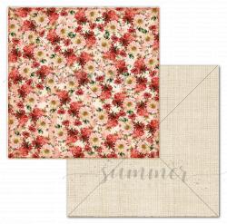 """Лист двусторонней бумаги """"Flowerbed"""", 30,5*30,5см, Summer Studio Farmhouse"""