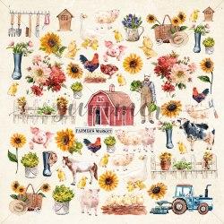 """Лист для вырезания """"Farmhouse"""", 30,5*30,5см, Summer Studio Farmhouse"""