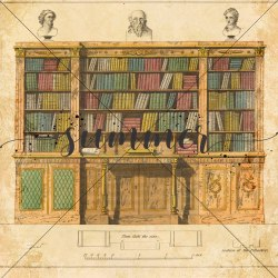 """Фоновый набор двусторонней бумаги """"Vintage Library"""" 190гр, 20*20см, 15 листов +1 бонусный фон, Summer Studio"""