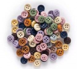 Пуговицы деревянные 10 шт., 10 мм., разные цвета