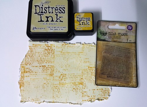 Дистресс чернила мини, Distress Ink - Fossilized Amber, Ranger 30 х 30 мм