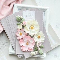 """Набор цветов """"Шиповник"""" розовый, Pastel Flowers"""