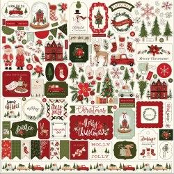 Наклейки Hello Christmas, 30х30 см., Carta Bella