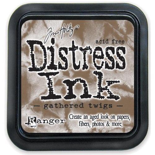 Дистресс чернила мини, Distress Ink - Gathered Twigs, Ranger 30х30 мм