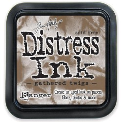 Дистресс чернила мини, Distress Ink - Gathered Twigs, Ranger 30х30 мм