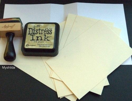 Дистресс чернила мини, Distress Ink - Old Paper Ranger 30х30 мм
