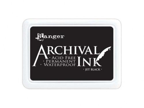 Архивные чернила, Archival Ink, черные Ranger Jet Black