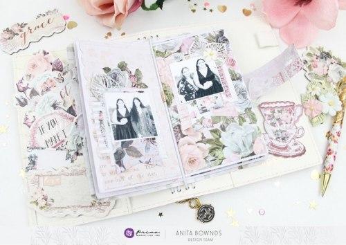 Poetic Rose, набор: высечки картонные и наклейки Prima Marketing Ink