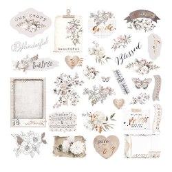 Pretty Pale, набор: высечки картонные и ацетатные, Prima Marketing Ink